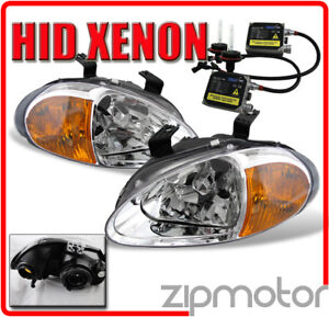 93 97 Honda Del Sol Jdm Clear 2in1 Headlights 6000k Hid
