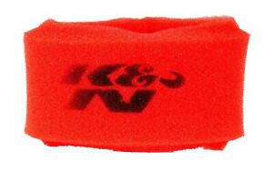 K N 25 1480 Airforce Pre Cleaner Red Round Straight Air Filter Foam Wrap