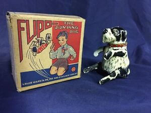 tin wind up toy flipo the jumping