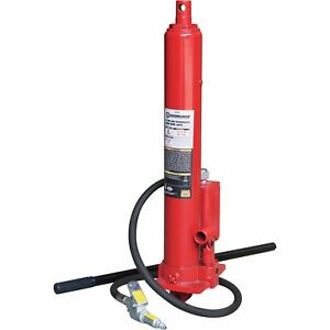 Strongway Air hydraulic Long Ram Jack 8 ton Cap 24 3 16in 42 7 8in Lift Range