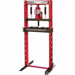 Strongway Hydraulic Shop Press 12 Ton Capacity