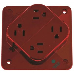Hubbell Hbl420hr Receptacle Hospital Grade 4 plex 20a 125v 5 20r Red
