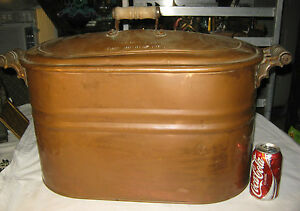 Antique Country Kitchen Primitive Rutherford Nj Rochester Art Copper Wood Boiler