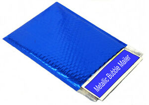 Metallic Glamour Bubble Mailers Envelope Bags 16 X 17 5 Blue 50 case