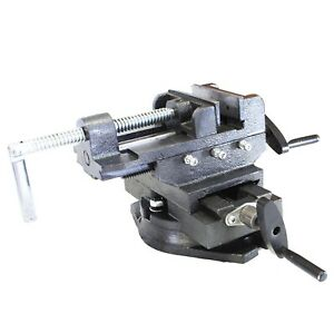4 Swivel 360 Degree Drill Press Vise Bench X Y Clamp Cross Slide Milling Hd