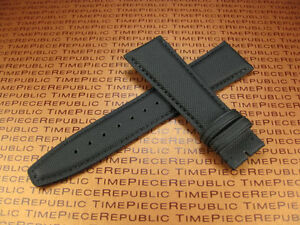 22mm Black Leather Strap TOILE Kevlar Fabric Watch Band for IWC Big PILOT 22 X1 $39.99