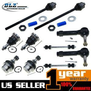 10 Pcs Tie Rod End Ball Joint Sway Bar Link Kit For Chevrolet Silverado 1500 4wd