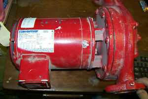 New Bell Gossett Series 90 1hp Motor Water Pump In outlet 1 1 2