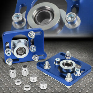 For 94 04 Mustang Blue 2 5 Adjustable Camber Caster Plate Coilover Alignment