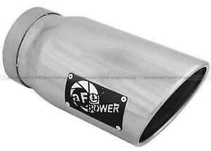 Afe 49t50601 p12 Polished Stnls Steel Bolton Diesel Exhaust Tip 5 inx6 outx12 l