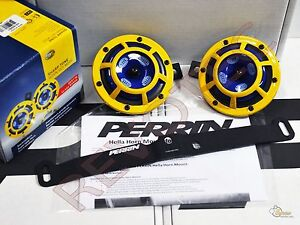 Perrin Mounting Bracket Yellow Hella Supertone Horn For 15 17 Wrx Sti