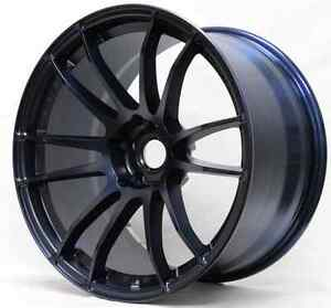 Rays Wgj612ee 57xtreme 19x10 5 12mm Offset Winning Blue 5x114 3 Single Rim