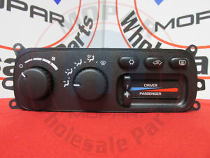 Dodge Ram 1500 Dual Zone Temp Ac Heater Control Panel New Oem Mopar