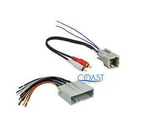 Aftermarket Radio Amplifier Wiring Harness For 2003 Up Ford Lincoln Mercury