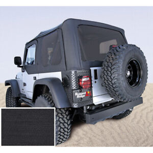 Black Soft Top No Door Skins With Tinted Windows For Jeep Wrangler Tj 03 06