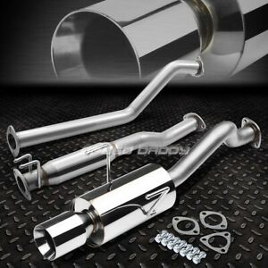 For 02 06 Rsx Dc5 Non Type s K20a3 4 rolled Muffler Tip Racing Catback Exhaust