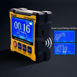 Digital Magnetic Angle Protractor Gauge Dual Axis 0 02 Resolution 50 60hz F2g2