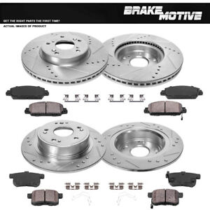 Front Rear Brake Rotors And Ceramic Pads 2013 2014 2015 2016 2017 Honda Accord