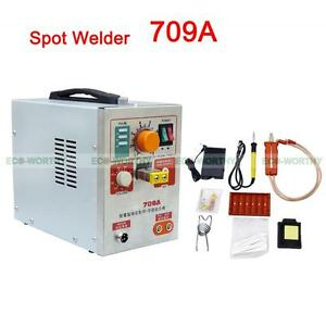 New 2 In 1 1 9kw Spot Welder soldering Iron Staion 709a Battery Welding Machine