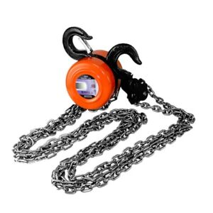 1 Ton Chain Puller Block Fall Chain Hoist Hand Tools 2000lbs Capacity