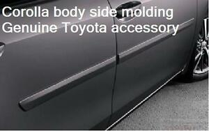 2014 19 Toyota Corolla Painted 209 Black Sand Body Side Molding Pt938 02140 02