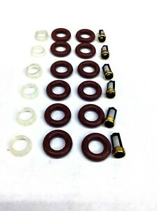 Fuel Injector Repair Kit O Rings Pintle Caps Filters Contour Mystique 2 5l V6