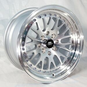 Mst Mt10 17x9 5x100 5x114 3 20 Silver Rims Fit Dodge Neon Srt4 Forester Outback