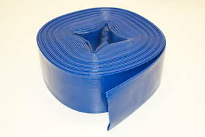 Industrial Water Pump Pvc Lay Flat Discharge Hose 2 X 12 Feet 3 Rolls