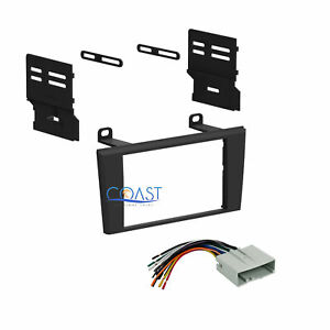 Double Din Car Radio Stereo Dash Kit Harness For 2004 2006 Ford Lincoln Ls