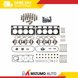 Head Gasket Set Head Bolts Lifters Fit 01 03 Gmc Cadillac Hummer Chevrolet 6 0