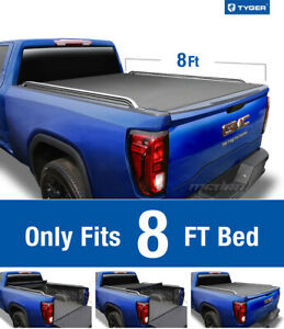 Tyger T2 Roll Up Low Profile Tonneau Cover Fit 1999 2007 Silverado Sierra 8 Bed