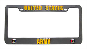 Us Army Chrome Auto License Plate 3d Metal Tag Frame