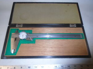 Machinist Lathe Mill Machinist 8 Dial Caliper Gage Gauge In Case Peacock