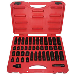 K Tool 37042 Impact Socket Set 3 8 Drive 42 Piece 5 16 To 3 4 8mm To 19mm