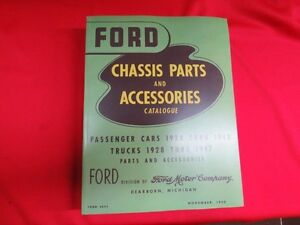 1928 48 Ford Chassis Parts Manual Catalog green Bible Flathead Bk 1
