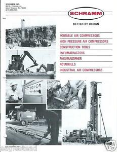 Equipment Brochure Schramm Air Compressors Construction Tools Set Of 7 e2609