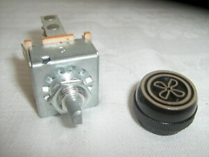 Air Conditioning 3 Speed Blower Switch With Resistor Knob Indak Brand