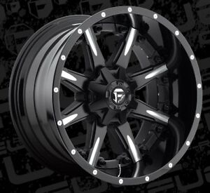 22x12 Fuel Nutz D251 8x170 Et 44 Black Milled Wheels Rims set Of 4