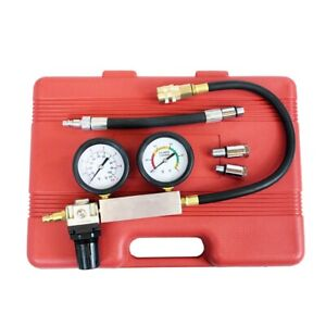 New Cylinder Leak Down Leakage Leak Detector Engine Compression Tester Gauges