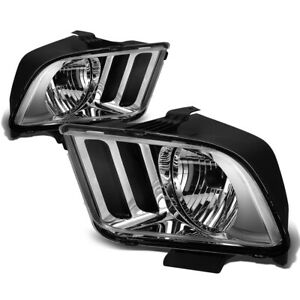 Fit 2005 2009 Ford Mustang S197 Pair Chrome Housing Clear Corner Headlight lamp