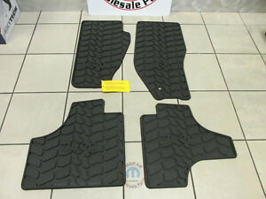 Jeep Liberty 2011 2012 Slush Style Floor Mats Dark Slate Grey Set New Oem Mopar