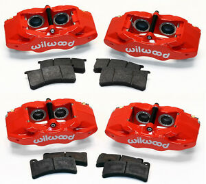 Wilwood Red Brake Caliper Pad Kit 1997 2013 Corvette C 5 C 6 Z06 Slc56 Dpc56