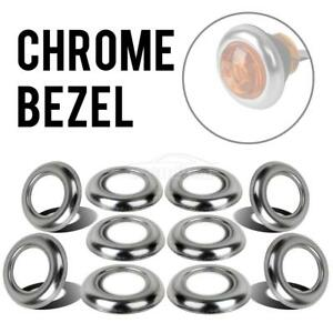 3 4 Round Chrome Bezels Led Marker Light Covers Waterproof