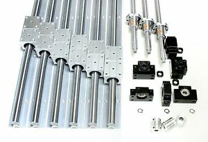 1000mm X 1000mm Cnc Router Ball Screws Kit 16mm Rails Xyz Travel 37 X 37 X 9