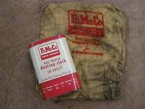 Original Ford Wax Treated Dusting Cloth Can 1950s 1960s Fairlane Galaxie Mustang