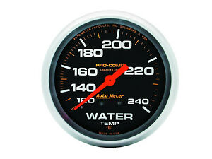 Auto Meter 5432 Pro comp Liquid filled 2 5 8 Mechanical Water Temperature Gauge