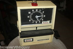 Amano 0010030ss Time date Stamp Clock Works spliced Cord 12 15
