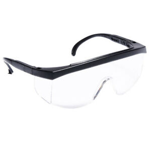 Radians G4 Junior Kids Safety Glass Black With Clear Lens