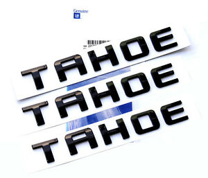 3x Oem Black Tahoe Nameplate Emblem Letter For Gm 07 16 Chevrolet Glossy Uwu New