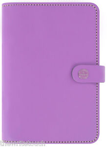 The Filofax Original Organizer Personal Lilac Leather Made In Uk